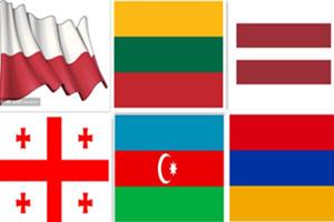 波兰,立陶宛,拉脱维亚,阿塞拜疆,格鲁吉亚,亚美尼亚